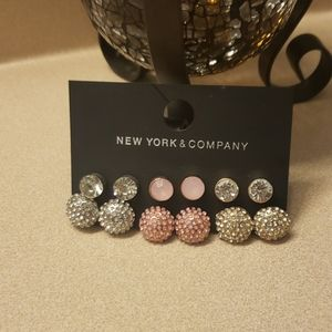 New York & Company 6 Pairs of Earrings